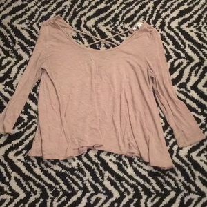 American Eagle Outfitters Tops - Flowy nude top